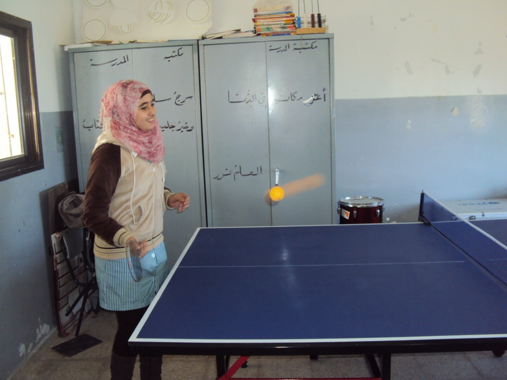 Ammoria School playing table tennis