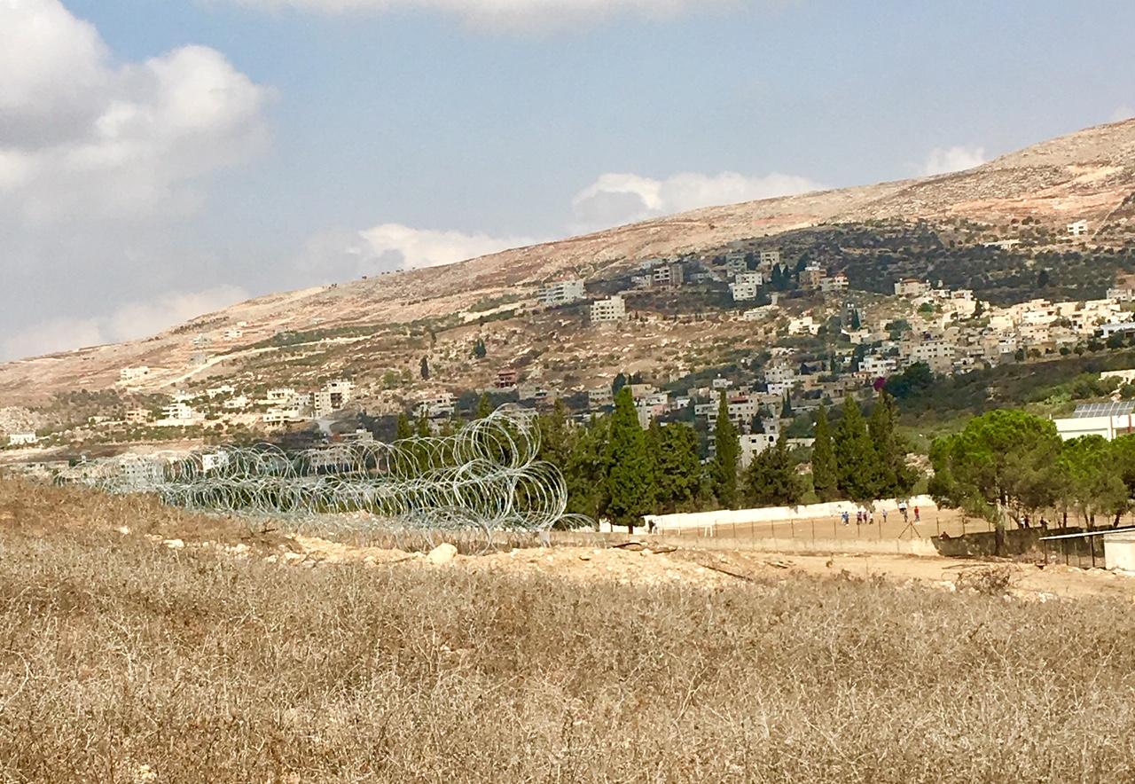 Burin razor-wire fence