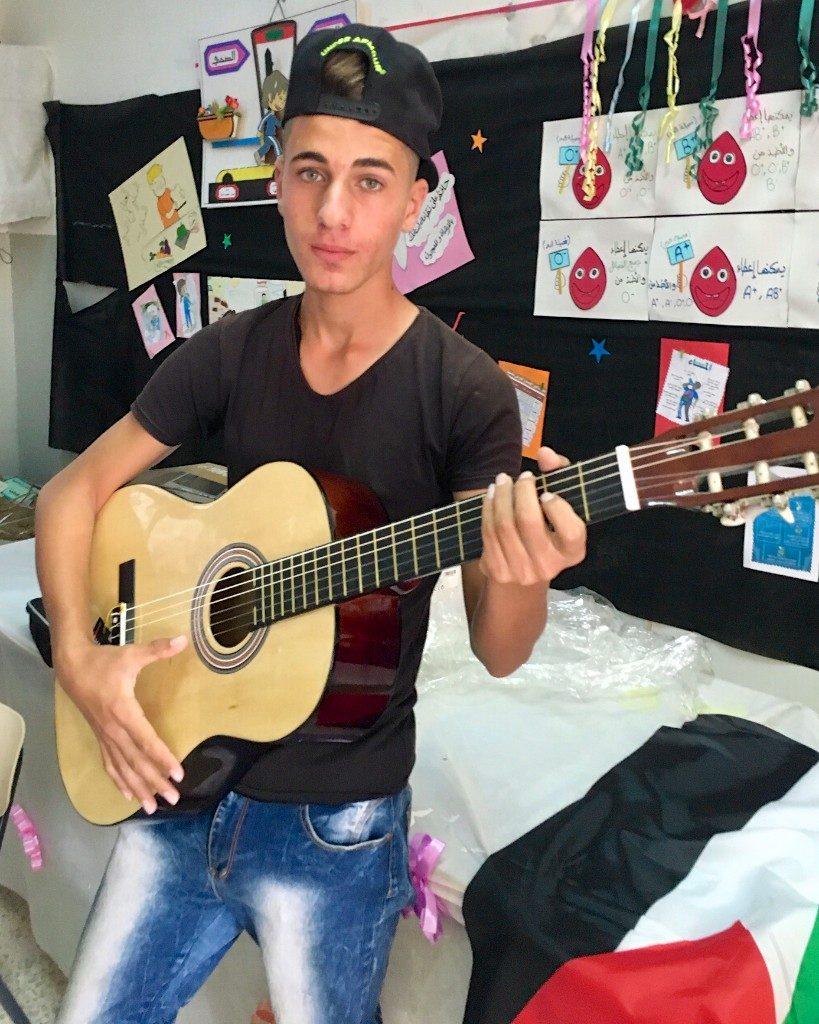 Burin School guitarist